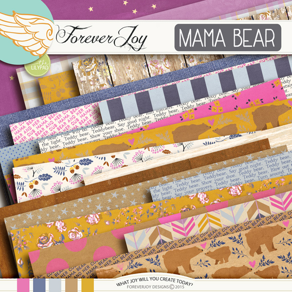DIGITAL SCRAPBOOKING | FOREVERJOY DESIGNS | MAMA BEAR