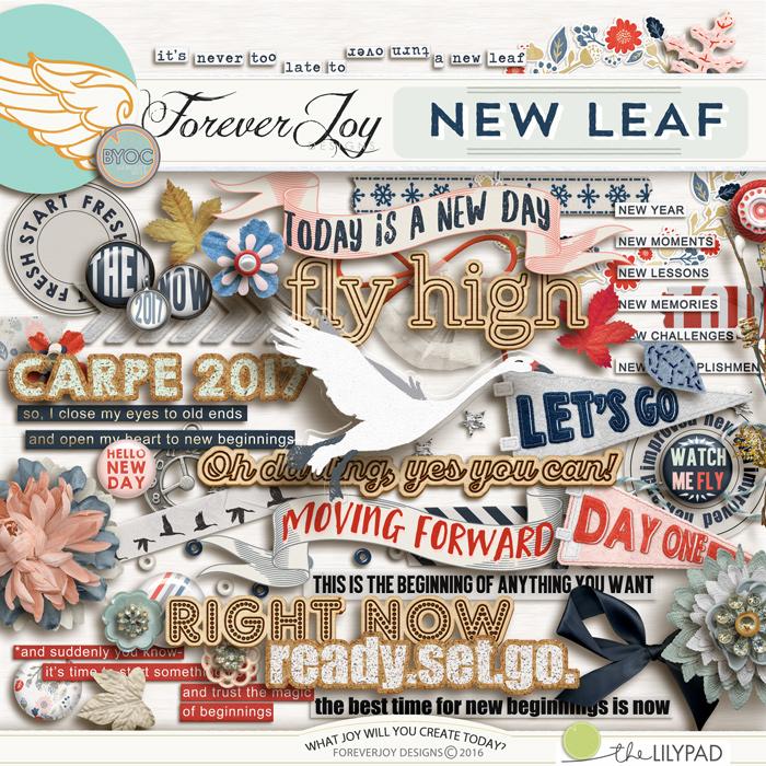 DIGITAL SCRAPBOOKING | FOREVERJOY DESIGNS | NEW LEAF