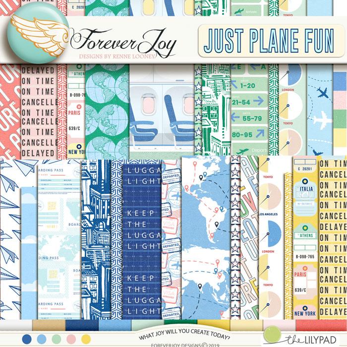 DIGITAL SCRAPBOOKING | FOREVERJOY DESIGNS | JUST PLANE FUN
