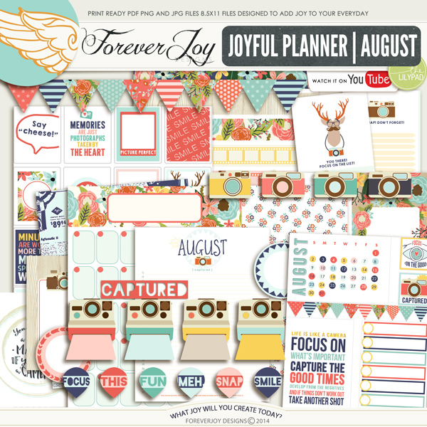 JOYFUL PLANNER   August Edition   Foreverjoydesigns.com