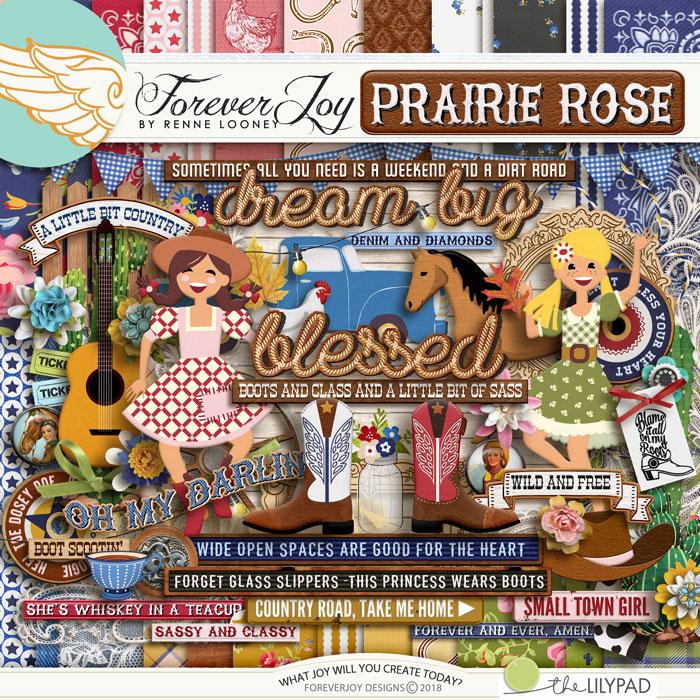 DIGITAL SCRAPBOOKING | FOREVERJOY DESIGNS | PRAIRIE ROSE