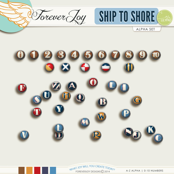 SHIP TO SHORE ALPHA | by ForeverJoy Designs