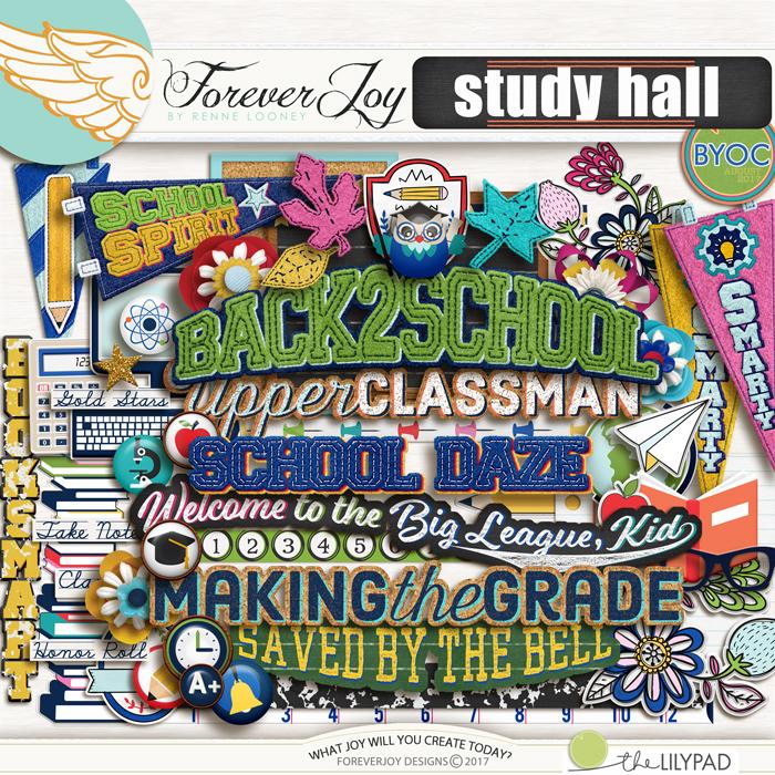 DIGITAL SCRAPBOOKING | FOREVERJOY DESIGNS | STUDY HALL