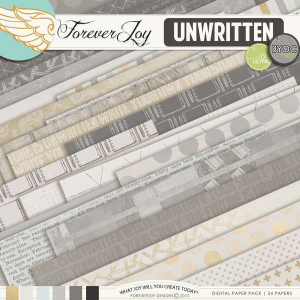 UNWRITTEN | by ForeverJoy Designs | Digital Scrapbooking