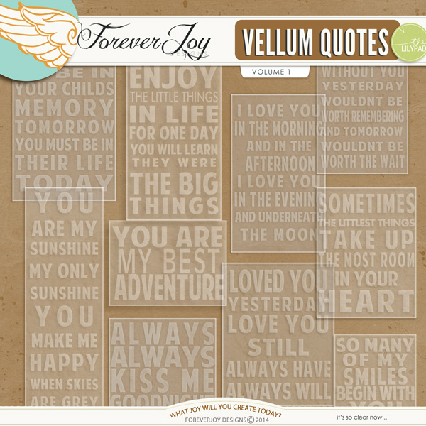 VELLUM QUOTES VOL1 | by ForeverJoy Designs