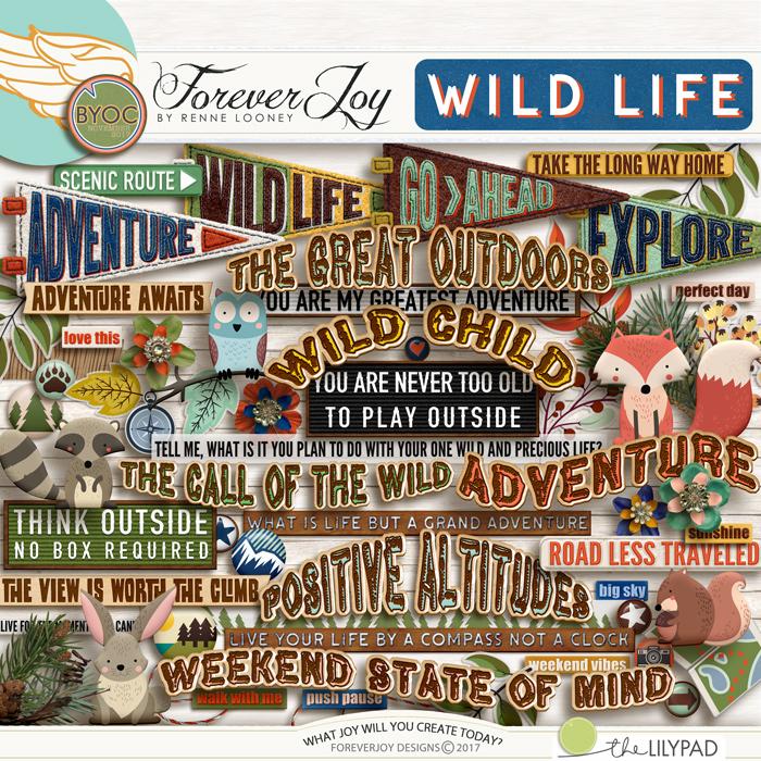 DIGITAL SCRAPBOOKING | FOREVERJOY DESIGNS | WILD LIFE