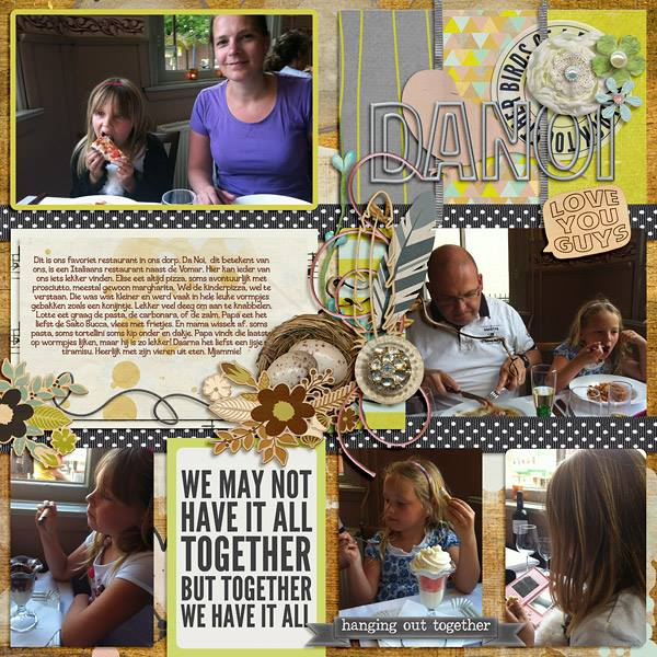 DIGITAL SCRAPBOOKING | FOREVERJOY DESIGNS | BIRDS OF A FEATHER