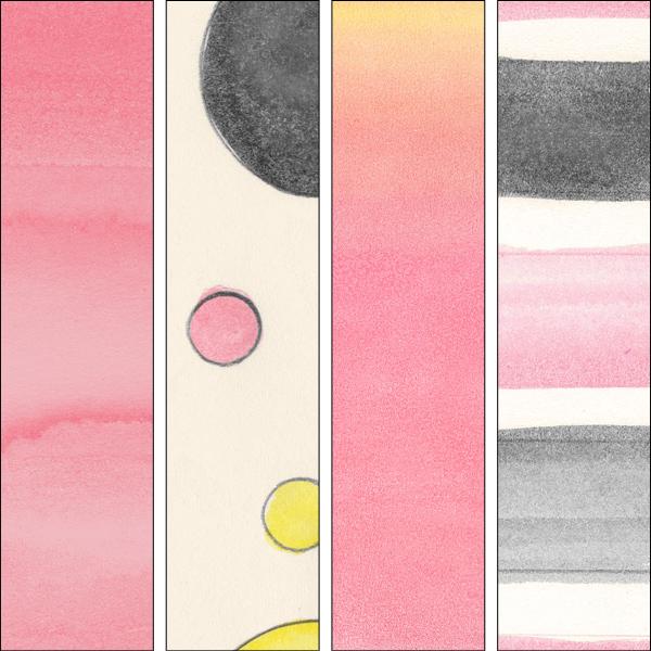 Pink Lemonade Painted Papers details