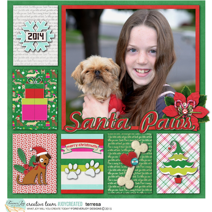 SANTA PAWS | Digital Scrapbooking Kit | by ForeverJoy Designs