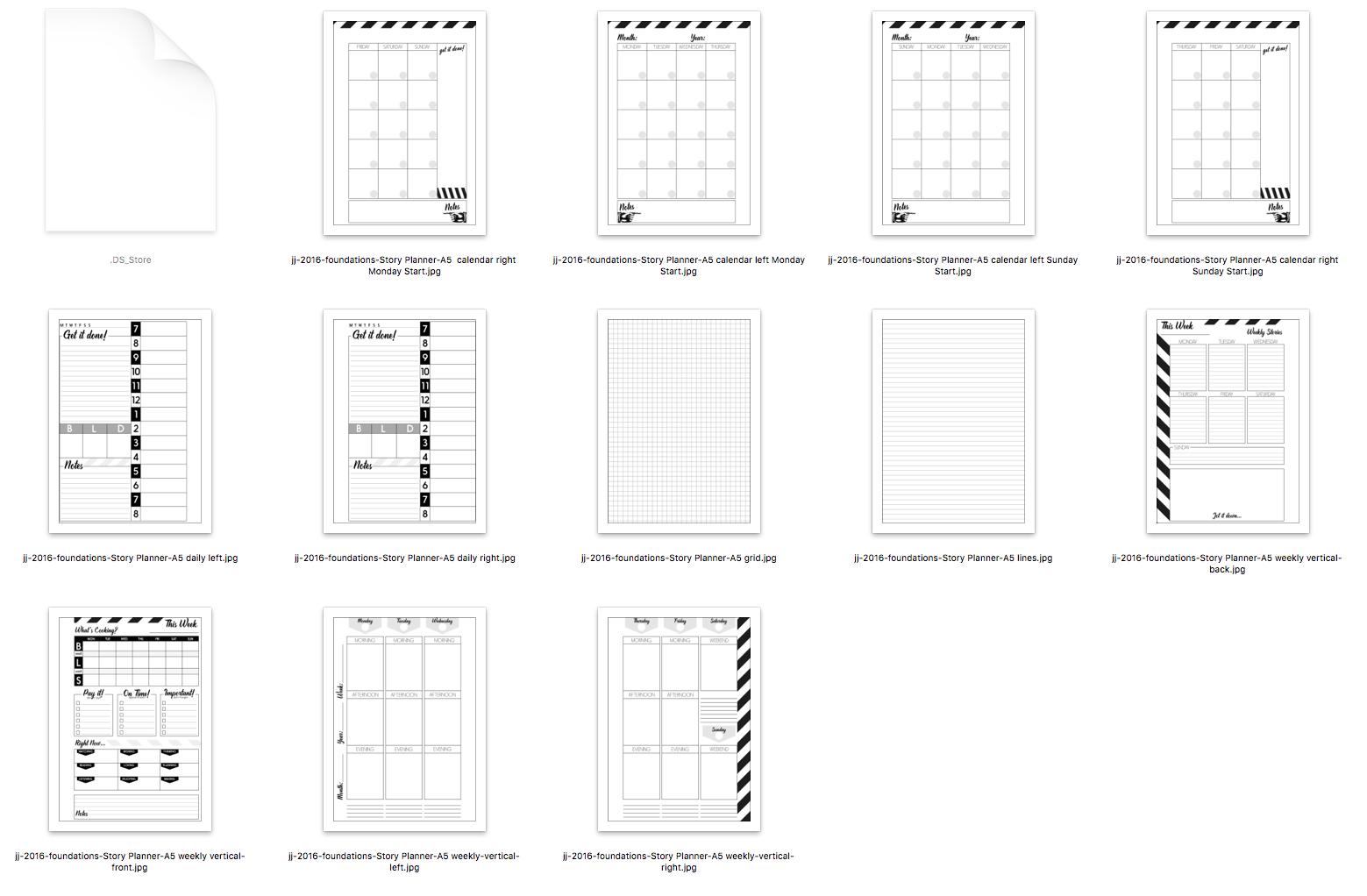 storyteller 2016 story planner system a5 calendar vertical