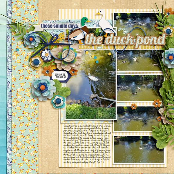 Digital scrapbooking kit duck pond foreverjoy designs for Design duck pond