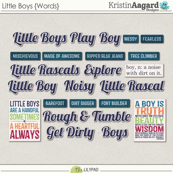 Digital Scrapbook Kit Little Boys Kristin Aagard