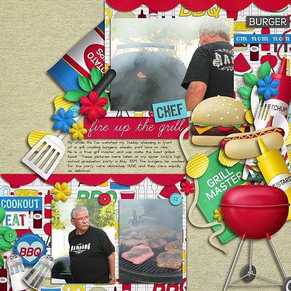 Digital Scrapbook Kit - Backyard BBQ