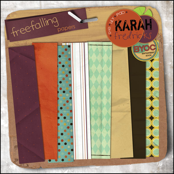 Freefalling Paper Pack by Karah Fredricks