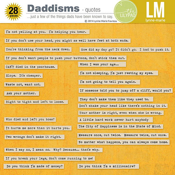 Daddisms