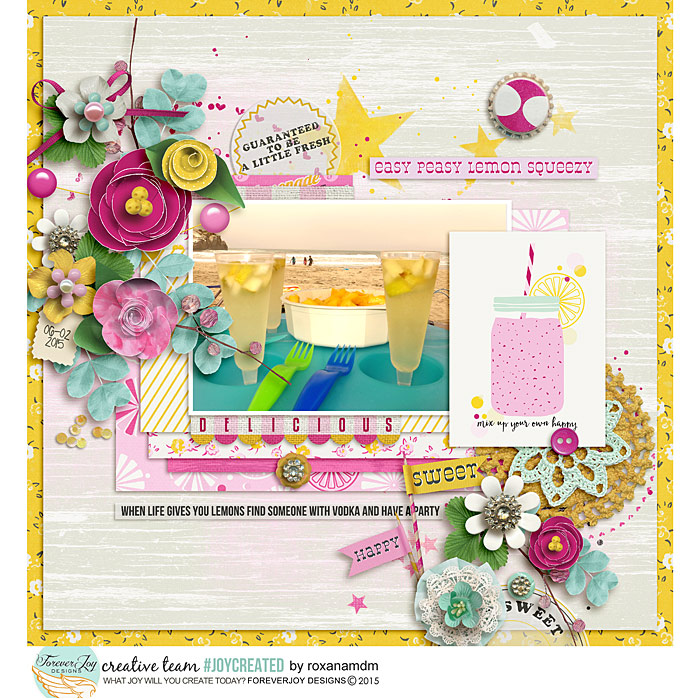 PINK LEMONADE | DIGITAL SCRAPBOOKING | by FOREVERJOY DESIGNS