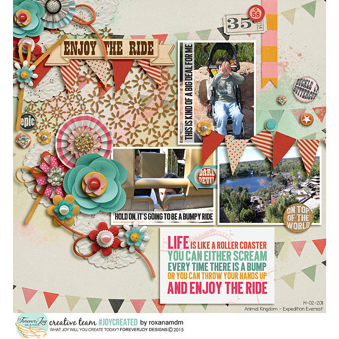 ENJOY THE RIDE | DIGITAL SCRAPBOOKING KIT | ForeverJoy Designs