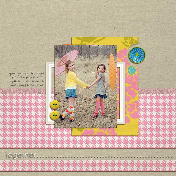 digital scrapbooking inspiration layout