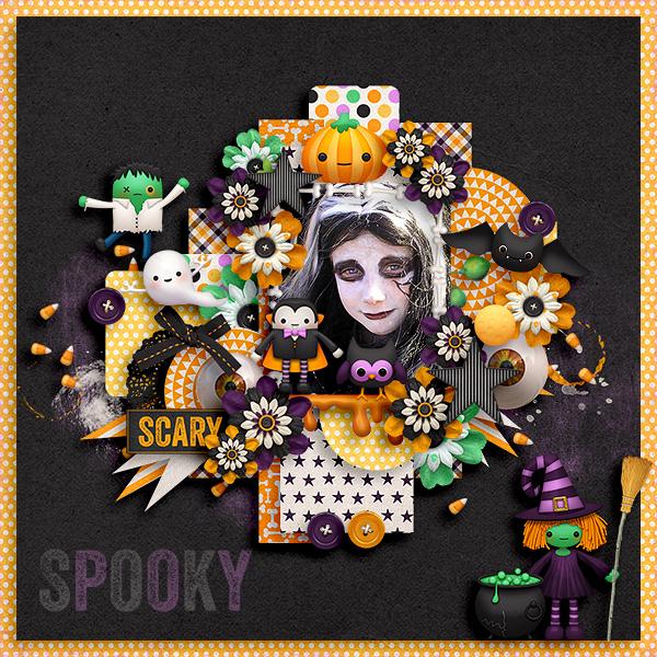 Digital Scrapbook Kit Haunted Halloween Kristin Aagard
