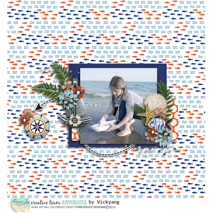 DIGITAL SCRAPBOOKING | FOREVERJOY DESIGNS | FIRST MATE