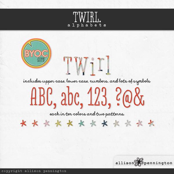 Twirl: Alphabets
