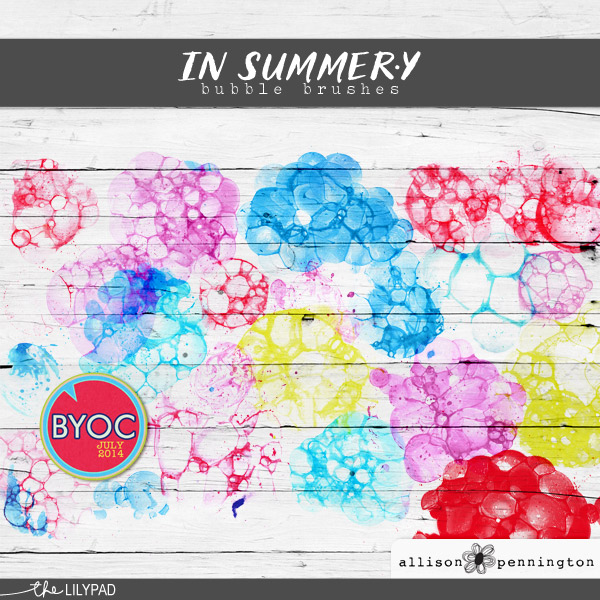 In Summer.y Bubble Brushes