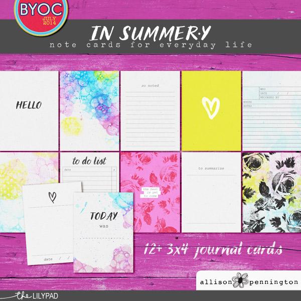 In Summer.y Note Cards
