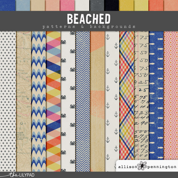 Beached: Patterns & Backgrounds