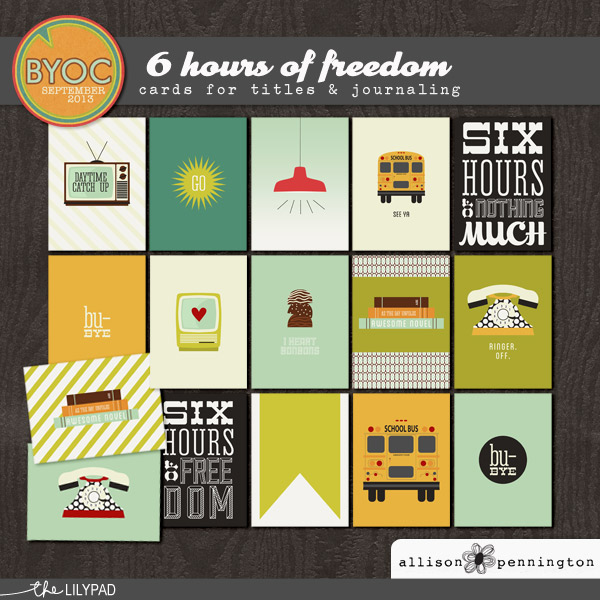 6 Hours of Freedom: Journaling Cards