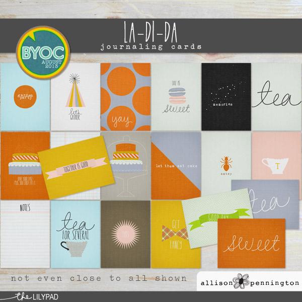 La Di Da: Journaling Cards