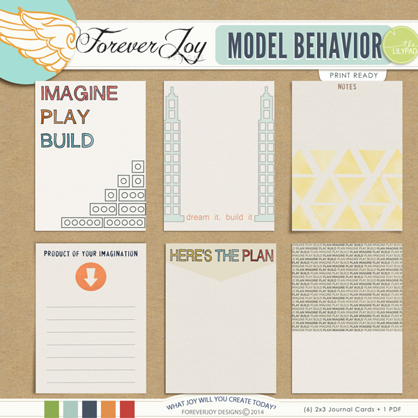 MODEL BEHAVIOR Journal Cards