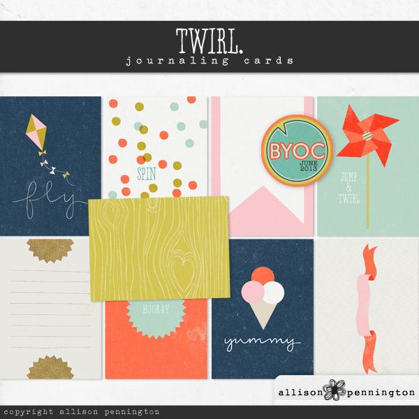 Twirl: Journaling Cards