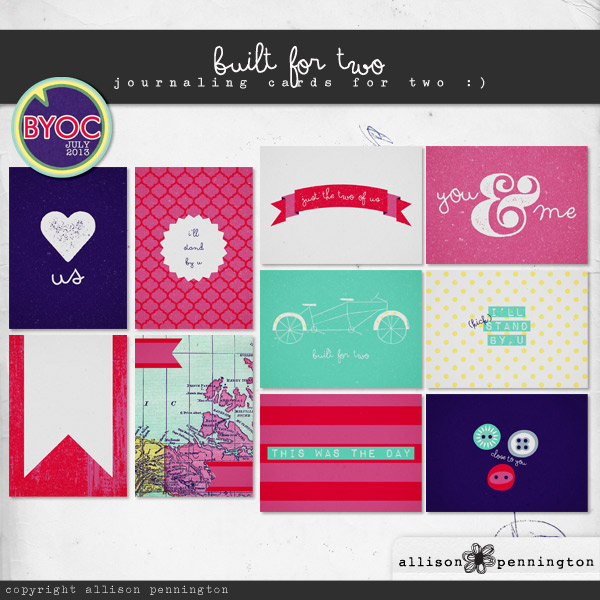 Built for Two: Journaling Cards