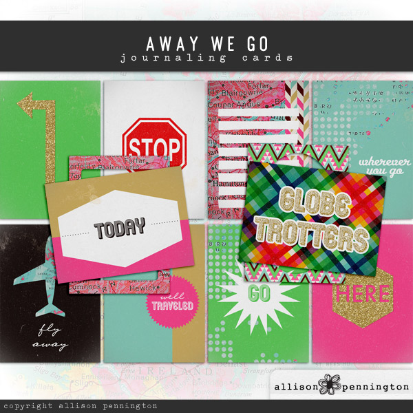 Away We Go: Journaling Cards