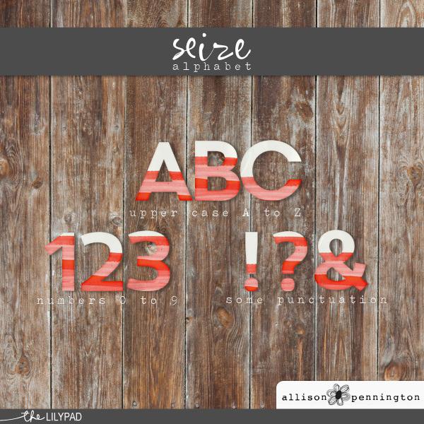 Seize: Alphabet