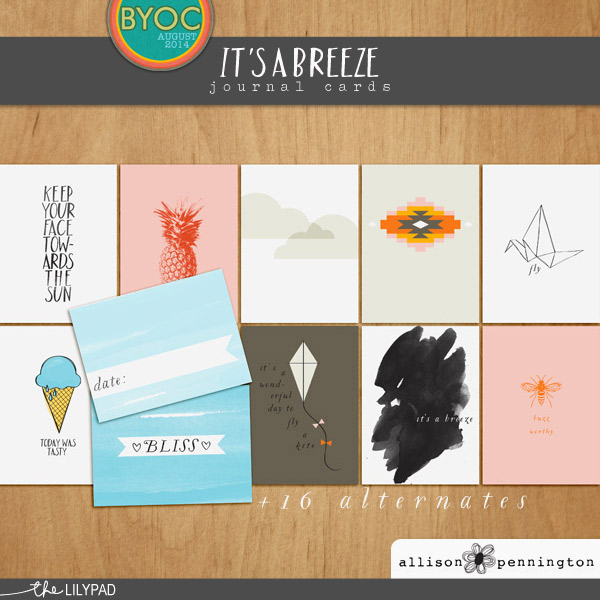 It's a Breeze: Journal Cards