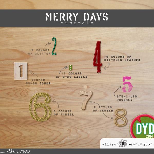 Merry Days: Numerals