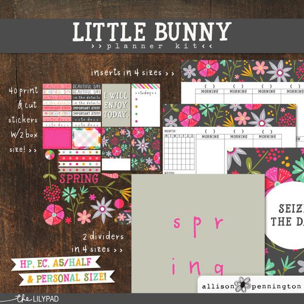 Little Bunny Planner Kit by Allison Pennington