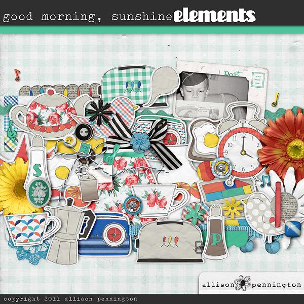 Good Morning Sunshine My Only Sunshine : Element packs digital scrapbooking elements the lilypad