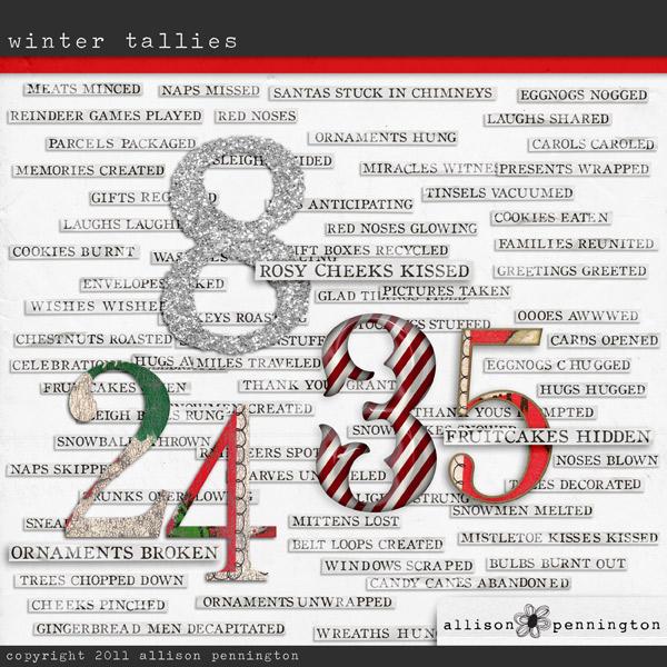 Winter Tallies