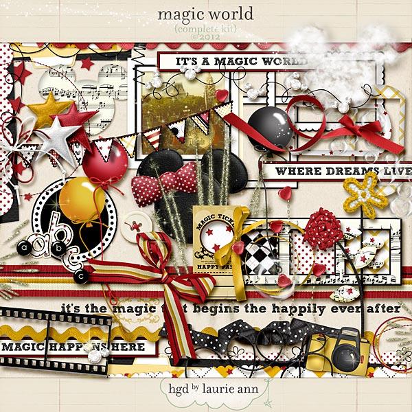 Magic World digital scrapbooking kit by Laurie Ann
