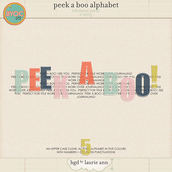 Peek A Boo Alphabet {element pack}