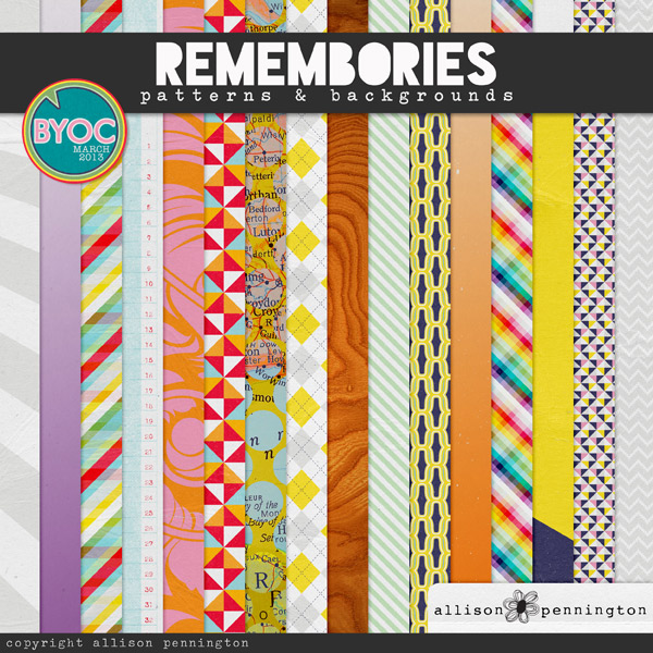 Remembories: Patterns & Backgrounds