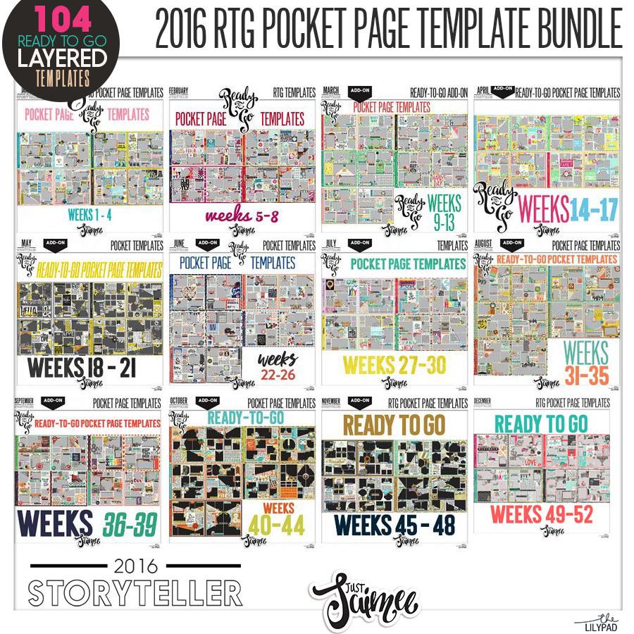 2016 Storyteller :: Ready-to-go Pocket Page Template Album Mega ...