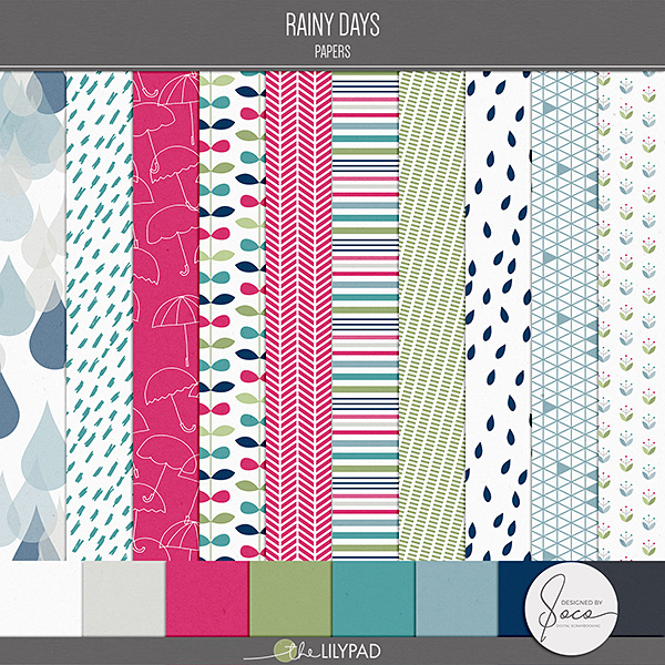 Digital Paper Packs For Scrapbooking The Lilypad