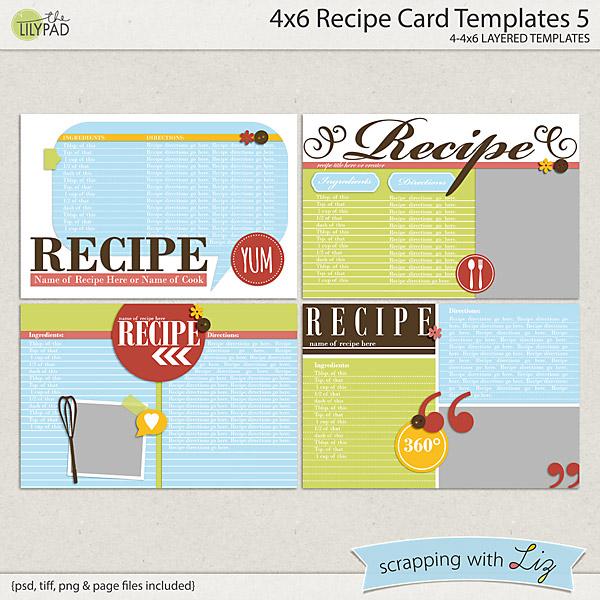 4x6 recipe card templates 5
