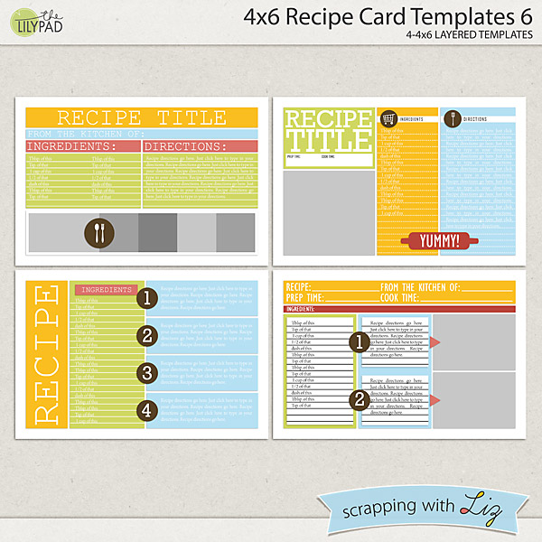 4x6 recipe card templates 6