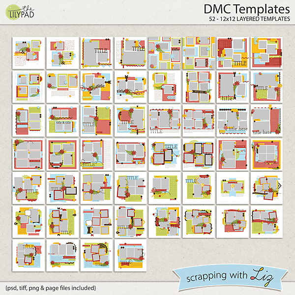 digital scrapbook template