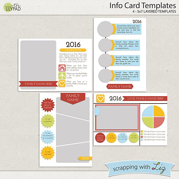 Thesuperstore Info: Digital Scrapbook Templates - Info Card