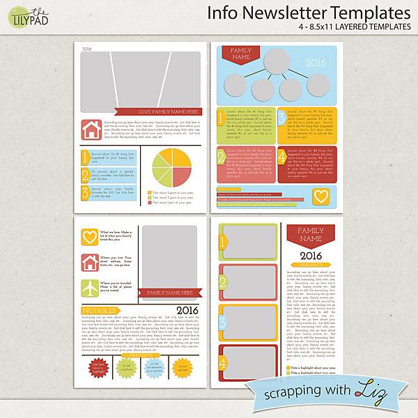 Thesuperstore Info: Digital Scrapbook Templates - Info Newsletter
